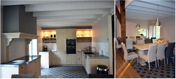 Woonkamer en keuken accommodatie vakantieboerderij pieriks winterswijk achterhoek - Decoratie woonkamer met open keuken ...